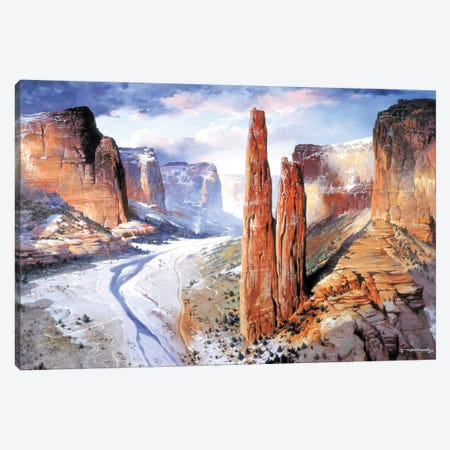 Spider Rock Canvas Print #MHM107} by Maher Morcos Art Print