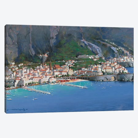 Amalfi Shores Canvas Print #MHM10} by Maher Morcos Canvas Print