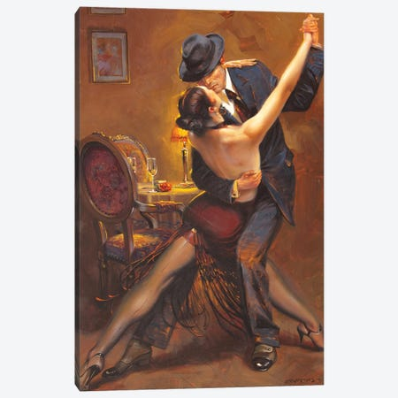 Tango Canvas Print #MHM113} by Maher Morcos Canvas Art Print