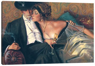 The French Lovers Canvas Art Print