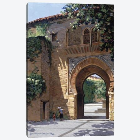 The Gate To Alhambra Canvas Print #MHM116} by Maher Morcos Canvas Artwork