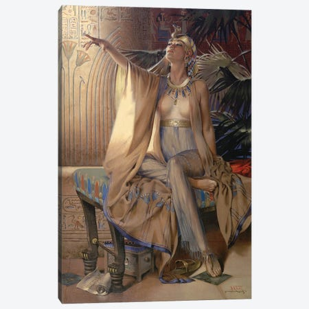 The Last Of The Pharaoh Canvas Print #MHM117} by Maher Morcos Canvas Wall Art