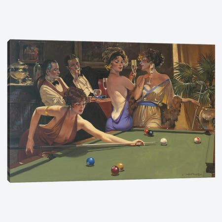The Seduction Game Canvas Print #MHM119} by Maher Morcos Canvas Print
