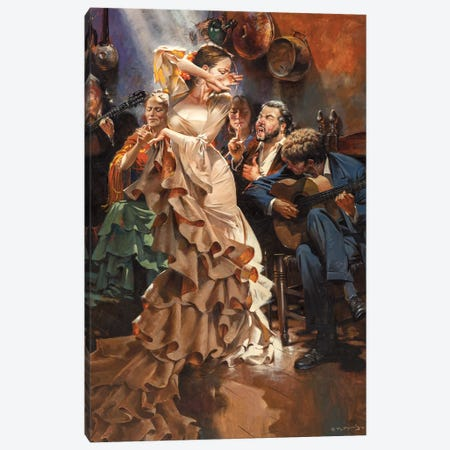The Sound Of Granada Canvas Print #MHM120} by Maher Morcos Canvas Wall Art