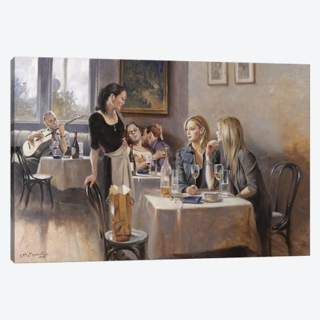 The Tavern Canvas Print #MHM122} by Maher Morcos Canvas Art