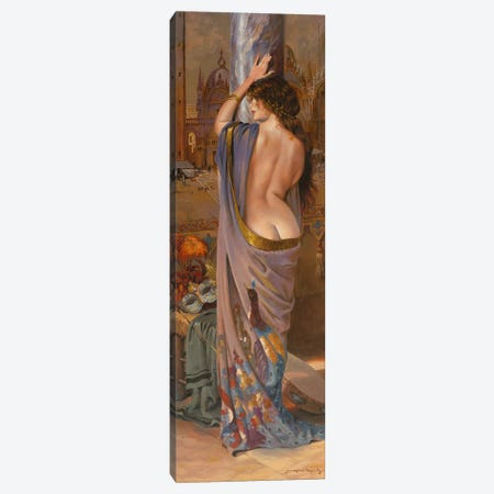 The Venician Performer Canvas Print #MHM123} by Maher Morcos Canvas Art