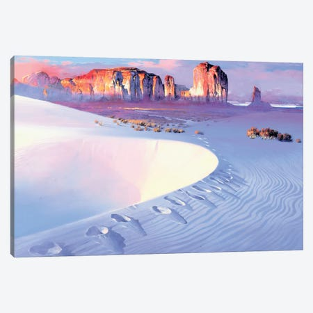 Tracks Canvas Print #MHM128} by Maher Morcos Canvas Artwork