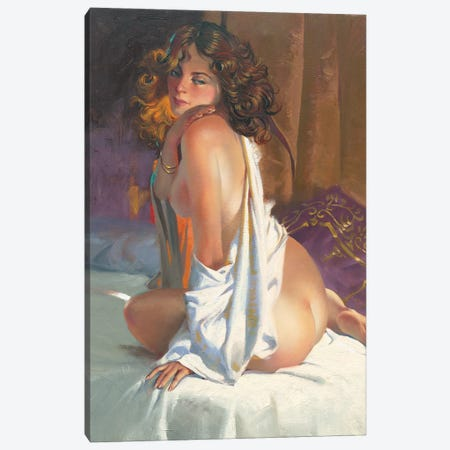 White Sheets Canvas Print #MHM138} by Maher Morcos Canvas Print