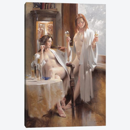 Sauvignon Blanc Canvas Print #MHM145} by Maher Morcos Canvas Print