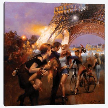 Parisian Night Canvas Print #MHM147} by Maher Morcos Canvas Print