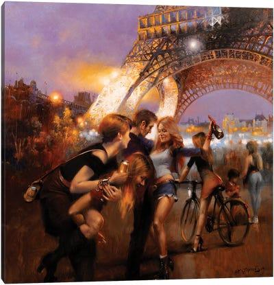 Parisian Night Canvas Art Print