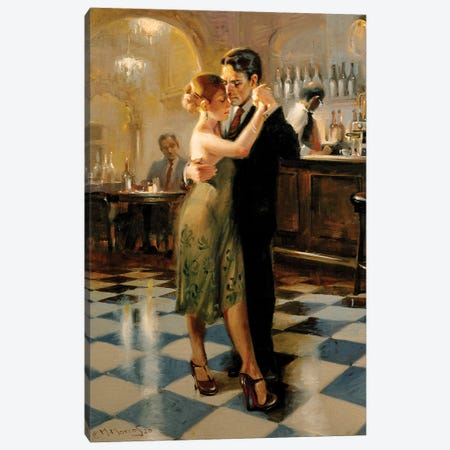 Closing Time Canvas Print #MHM150} by Maher Morcos Art Print