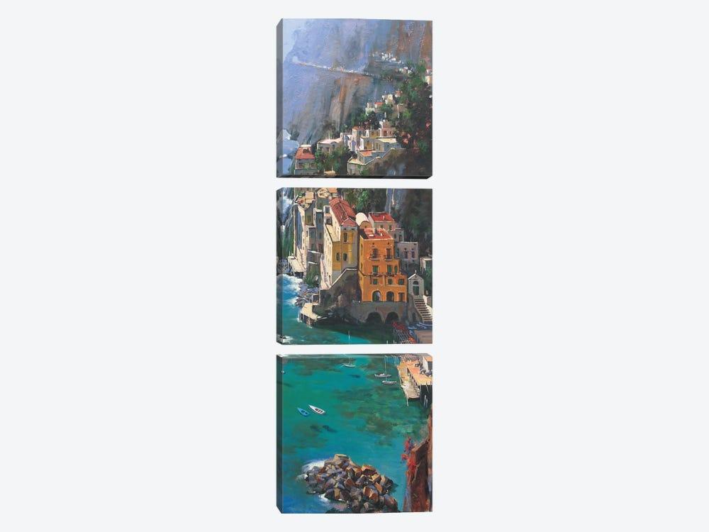 Conca De Marini by Maher Morcos 3-piece Canvas Art