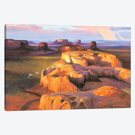 Crossing South Canvas Print #MHM22} by Maher Morcos Canvas Artwork