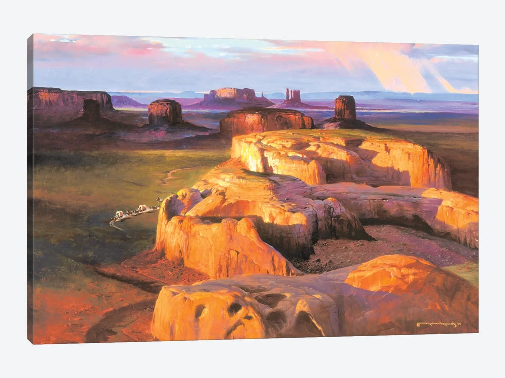 Crossing South by Maher Morcos 1-piece Canvas Print