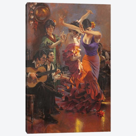 Dance With Pain Canvas Print #MHM23} by Maher Morcos Canvas Wall Art