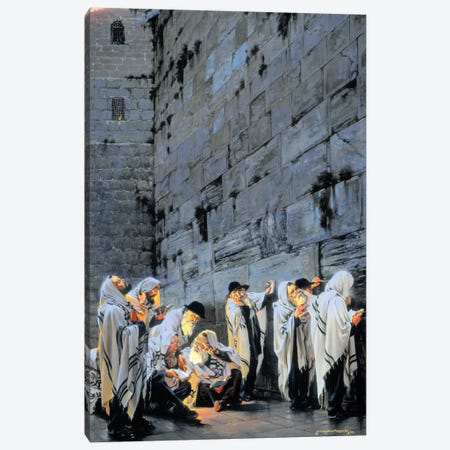 Early Morning Prayer Canvas Print #MHM30} by Maher Morcos Canvas Art Print