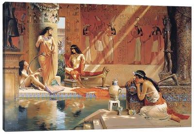 Egyptian Bathers Canvas Art Print
