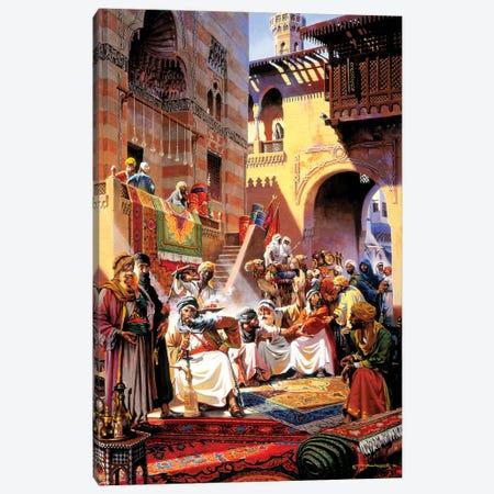 El Souk Friday's Market Canvas Print #MHM33} by Maher Morcos Art Print