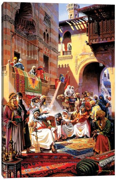 El Souk Friday's Market Canvas Art Print