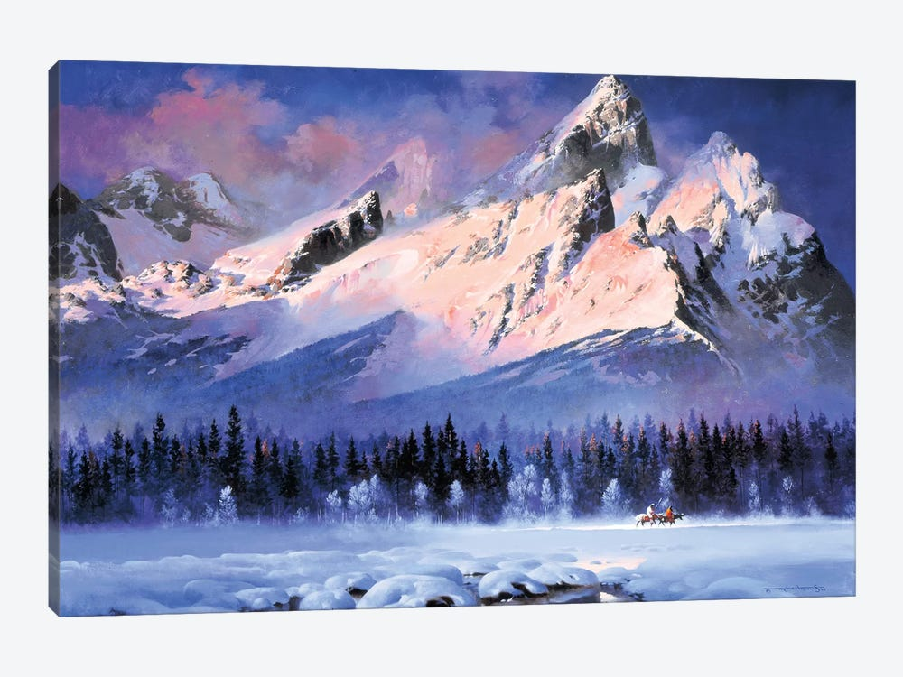 First Light At Titon by Maher Morcos 1-piece Canvas Art