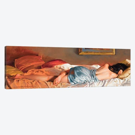Fold In Blue Canvas Print #MHM37} by Maher Morcos Canvas Artwork