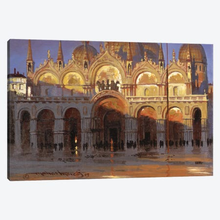 Gold Reflection Canvas Print #MHM39} by Maher Morcos Canvas Print