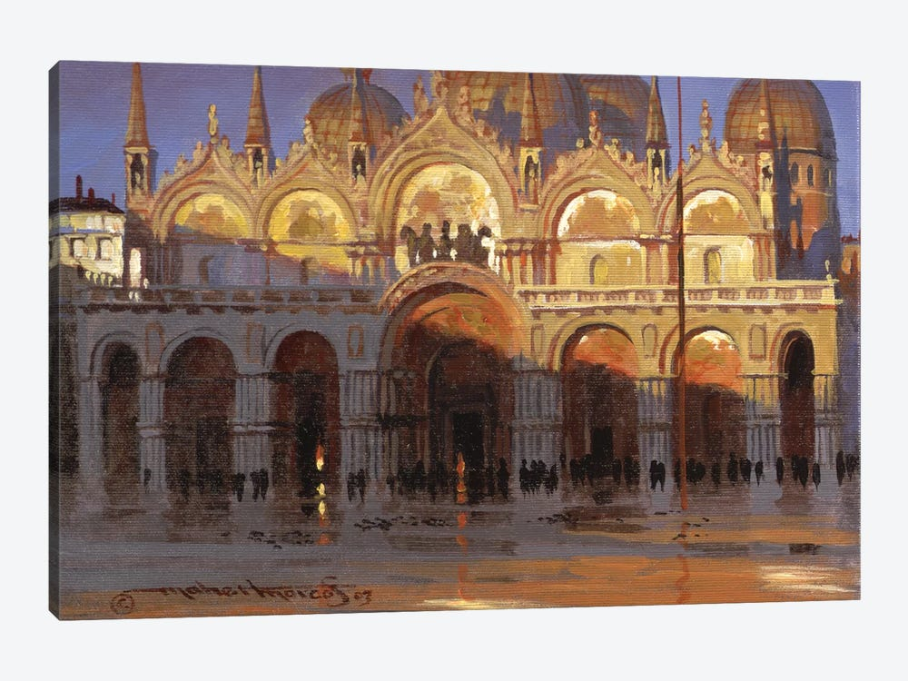 Gold Reflection by Maher Morcos 1-piece Art Print
