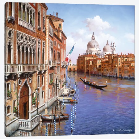 Grand Canal Canvas Print #MHM40} by Maher Morcos Canvas Artwork