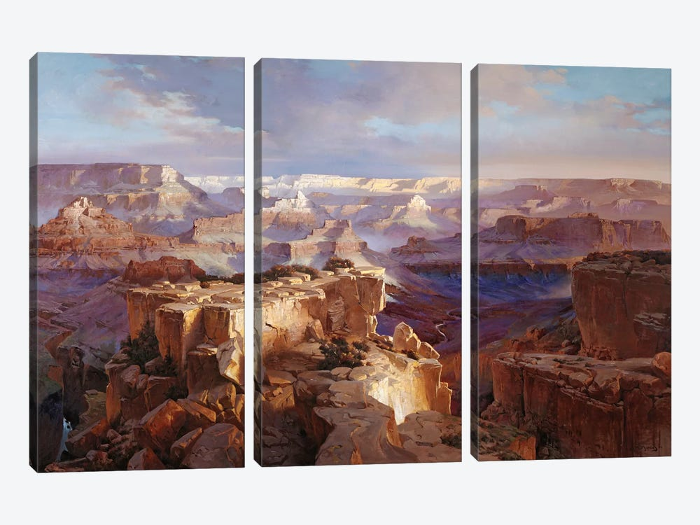 Grand Canyon I by Maher Morcos 3-piece Canvas Artwork