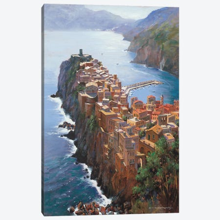 High Above Vernezza (Italy) Canvas Print #MHM45} by Maher Morcos Canvas Print