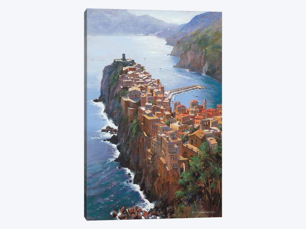 High Above Vernezza (Italy) by Maher Morcos 1-piece Canvas Artwork