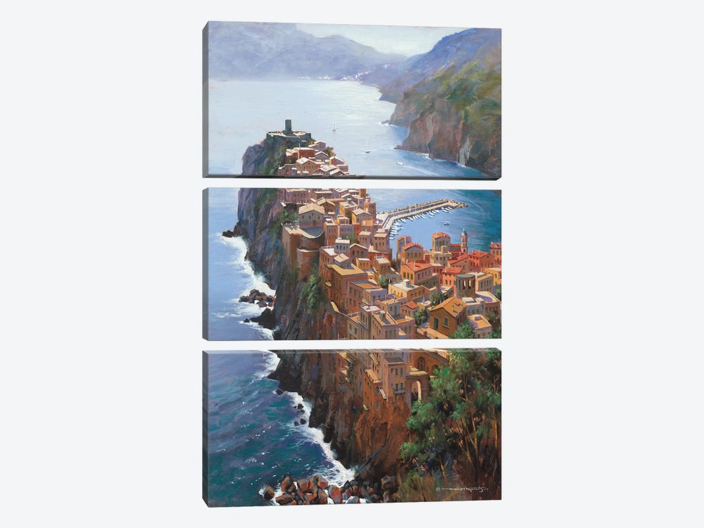 High Above Vernezza (Italy) by Maher Morcos 3-piece Canvas Artwork