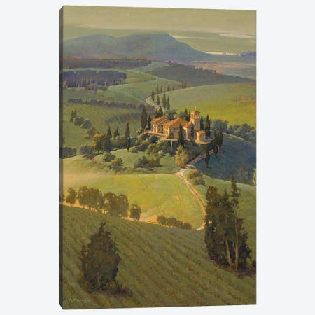 Hills Of Tuscany Canvas Print #MHM46} by Maher Morcos Canvas Art Print