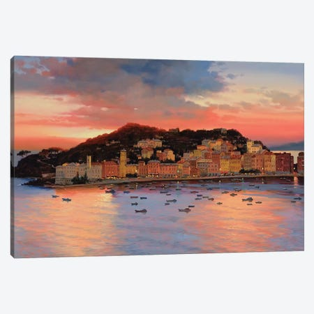 Italian Sunset Canvas Print #MHM53} by Maher Morcos Canvas Art Print