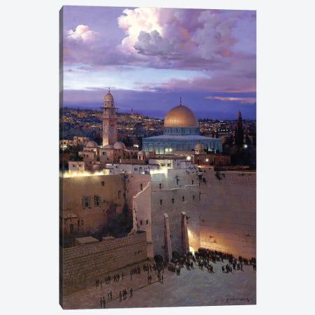 Jerusalem Sunset Canvas Print #MHM54} by Maher Morcos Canvas Artwork