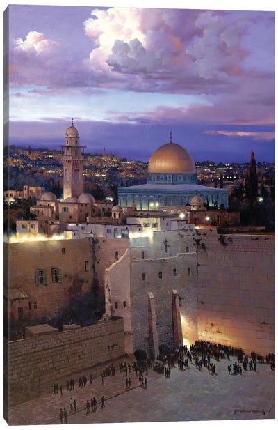 Jerusalem Sunset Canvas Art Print