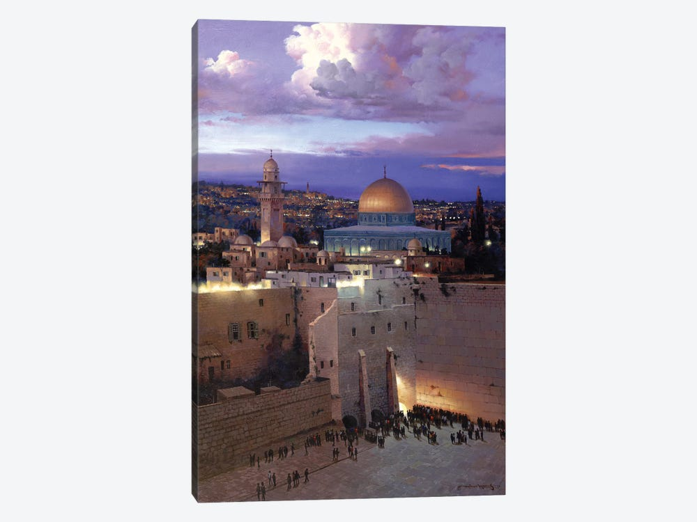 Jerusalem Sunset by Maher Morcos 1-piece Canvas Artwork