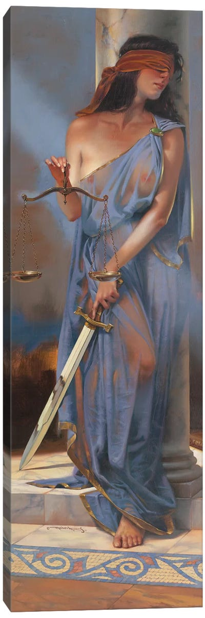 Lady Justice Canvas Art Print