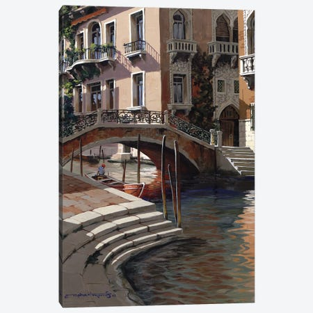 Afternoon In Venice Canvas Print #MHM5} by Maher Morcos Canvas Wall Art