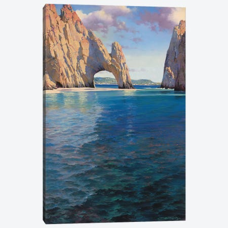 Mexican Rivira Canvas Print #MHM64} by Maher Morcos Art Print