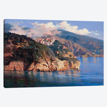 Mouth Of Portofino Canvas Print #MHM71} by Maher Morcos Art Print