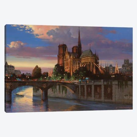 Notre Dame De Paris Canvas Print #MHM79} by Maher Morcos Canvas Print