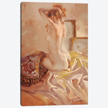 Nude Canvas Print #MHM80} by Maher Morcos Canvas Art