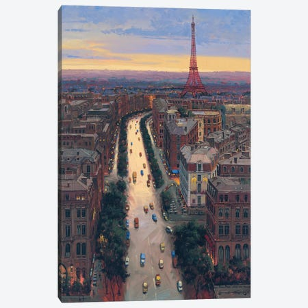 Paris Canvas Print #MHM82} by Maher Morcos Canvas Wall Art