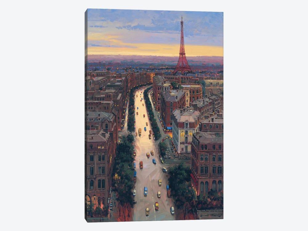 Paris by Maher Morcos 1-piece Canvas Art Print