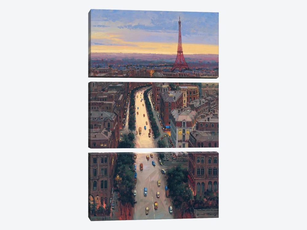 Paris by Maher Morcos 3-piece Canvas Art Print