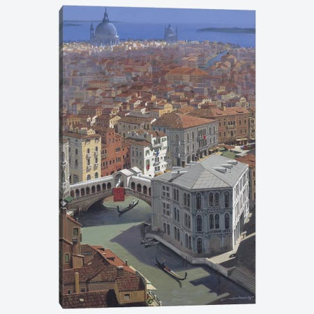 Rialto Bridge Canvas Print #MHM89} by Maher Morcos Canvas Wall Art