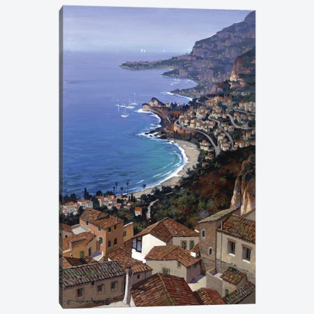 Roquebrune Canvas Print #MHM91} by Maher Morcos Canvas Art Print