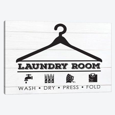 Laundry Shiplap III Canvas Print #MHO16} by Melody Hogan Canvas Wall Art